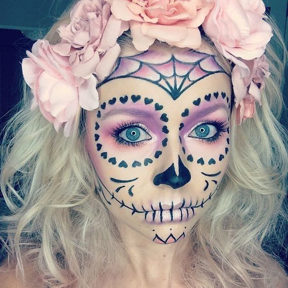 Pale Pastels - Celebrate Day of the Dead With These Sugar Skull Makeup Ideas - Photos