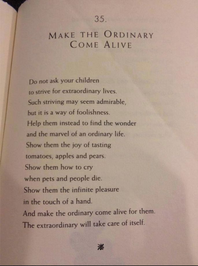 from The Parent's Tao Te Ching: Ancient Advice for Modern Parents by William Martin:
