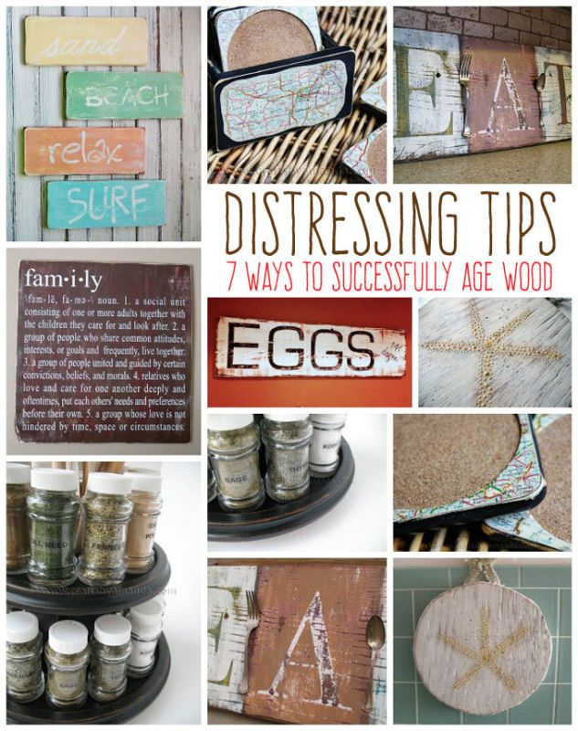 There are several ways to make a painted project look old or give it a vintage feel. Distressing the surface, or in the case of coastal projects, making them look weathered and worn, is a pretty simple process. Here are some tips on how to distress your projects without making it look like you tried too hard.
