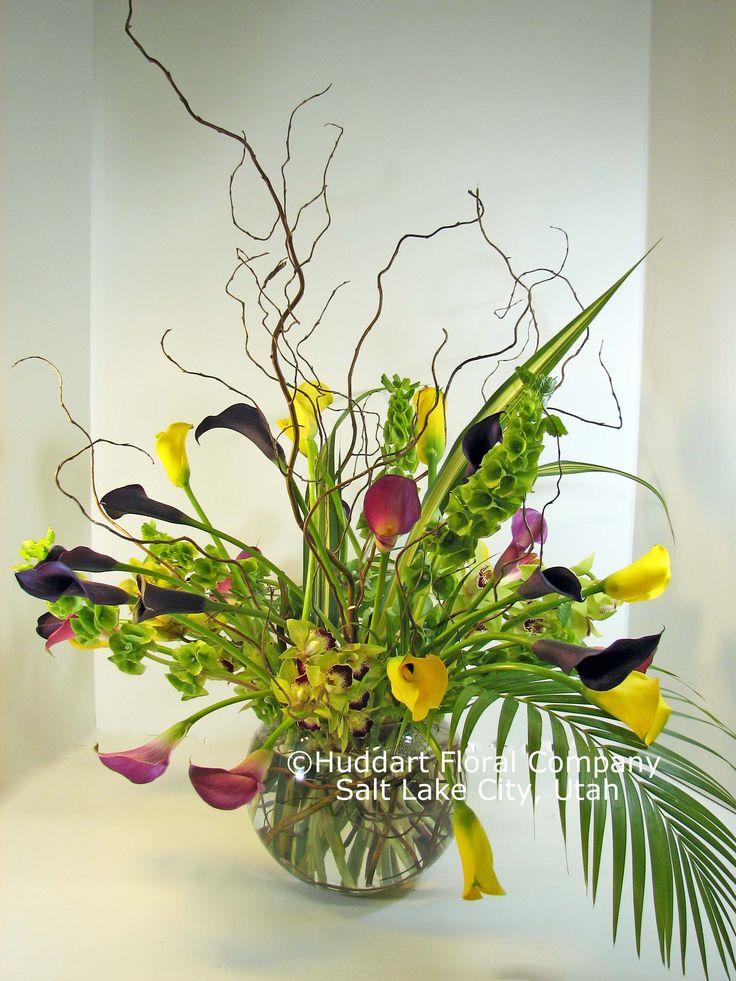 Wow! Bells of Ireland, mini calla lilies, mini cymbidium
