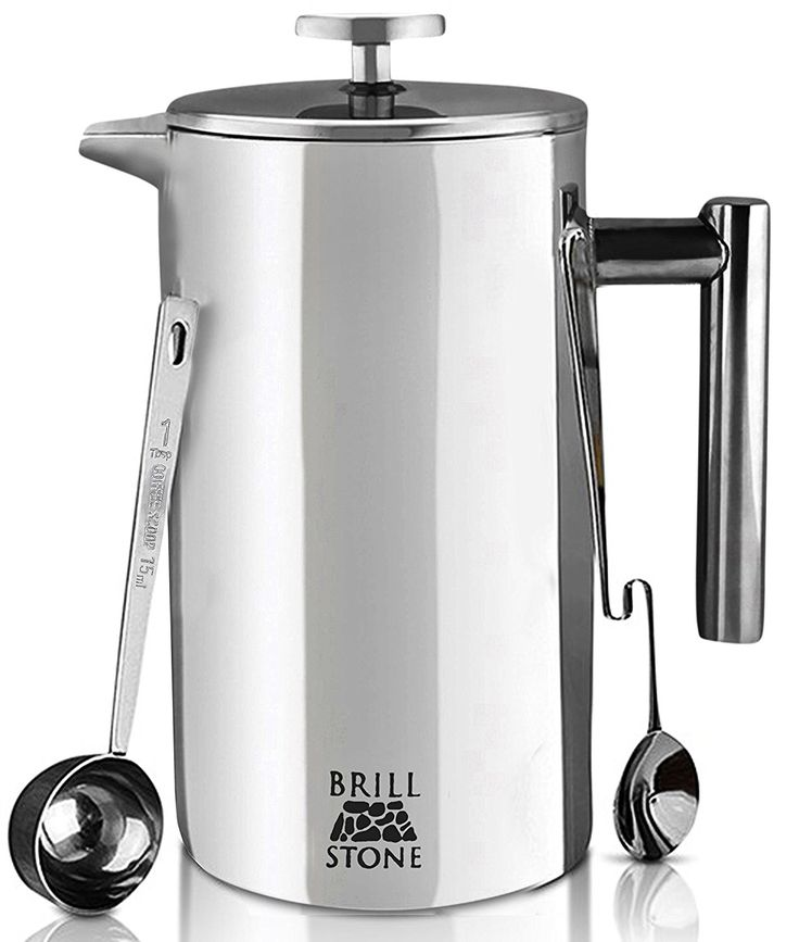 Brill Stone French Press Coffee & Tea Maker Complete Bundle (34 Oz – 1 Liter) Best Price. -Crisp FLAVORS, BOLD AROMAS – The twofold channel innovation wipes out acidic flavors from espresso beans and tea leaves without the requirement for paper channels; all to upgrade the common flavor or your most loved meals!   -Fast and EASY ENJOYMENT – Crafting your barista quality espresso mixes takes minutes with our excellent espresso producer. Brill Stone French Press Coffee & Tea Maker Complete…