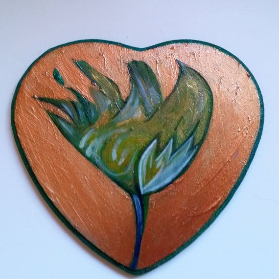 Tulip on a heart shaped sign