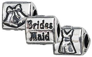 Pandora Wedding Charms | Authentic Zable Bridesmaid Wedding Bead Charm BZ2105