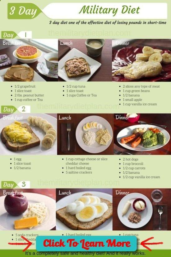 Military Diet Plan 3 Day Diet Drop 10 Pounds Easily #health #fitness #weightloss #healthyrecipes #weightlossrecipes #vegetariandietsweightloss