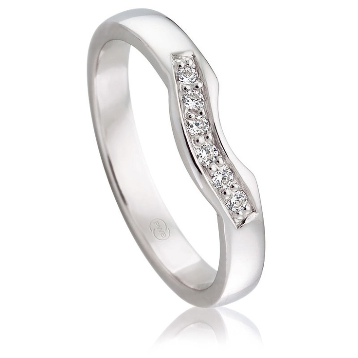 White Gold Bead Set Fitted Diamond Wedding Rings  $1000