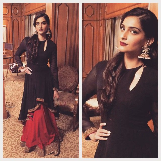 @sonamkapoor in Anand Kabra couture and @Amrapalijewels for the Yuva awards