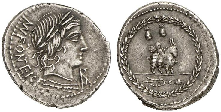 AR Denarius. Roman Coin, Roman Republic, Moneyers, Mn.Fonteius. 85 BC. 3,77g. Syd. 724. Good VF. Starting price 2011: 200 USD. Unsold.