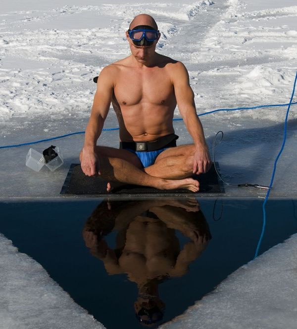 The real life Acquaman who set the record for swimming 236 feet in the sub-zero…