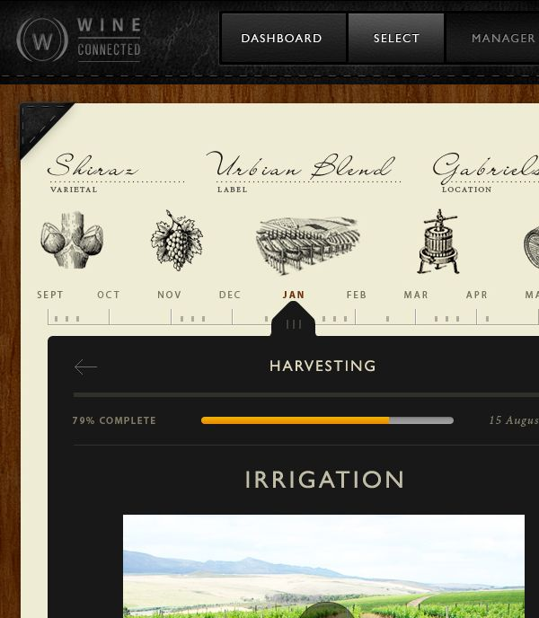 WineConnected Platform by Darren Croxford, via Behance