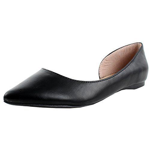 Breckelles Women's Pointed Toe Open S…