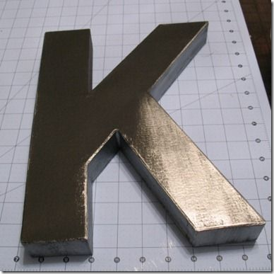 Create faux metallic letters with cardboard letters