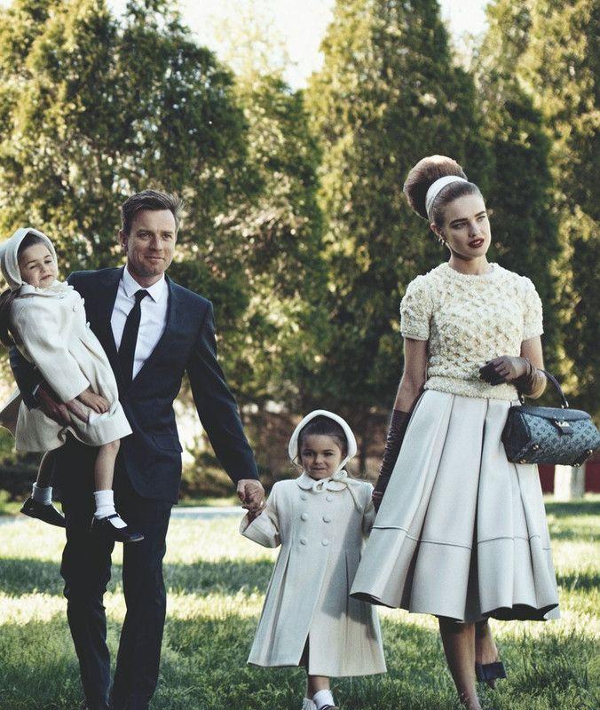 Ewan McGregor, Natalia Vodianova. The American dream, c. 1957. By Peter Lindbergh for Vogue US July 2010.