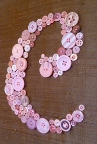 buttons- cute for baby girl's room...would look great with the heart button wreath