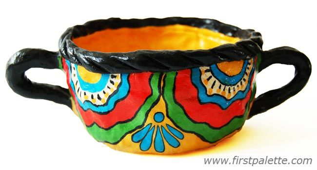Mexican Clay Pot Designs | Mexican-inspired pinch pot