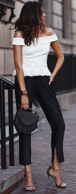 #summer #trending #outfits   Casual Chic + Street + Black and White…