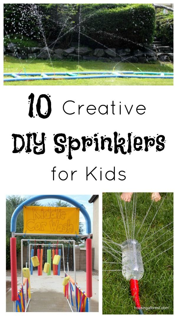 DIY Sprinklers for Kids...great for end of year parties and summer water days!