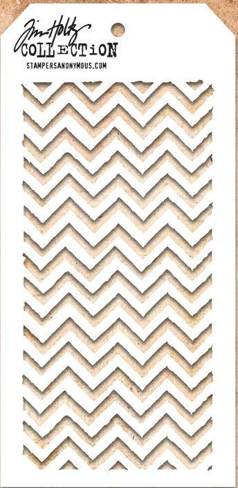 Tim Holtz Stencil THS047 Zigzag
