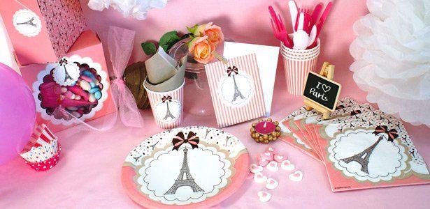 """Addobbi e decorazioni per feste a tema """"Parigina"""" su VegaooParty"""