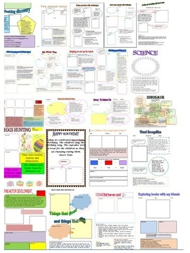 Learning Stories Templates linking to EYLF