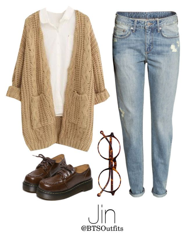 """""""Vintage Shopping with Jin"""" by btsoutfits ❤ liked on Polyvore featuring Chicnova Fashion, WithChic, H&M, Retrò and vintage"""