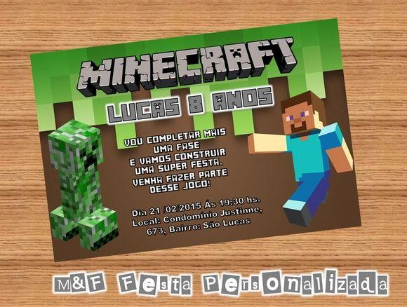 Convite Minecraft