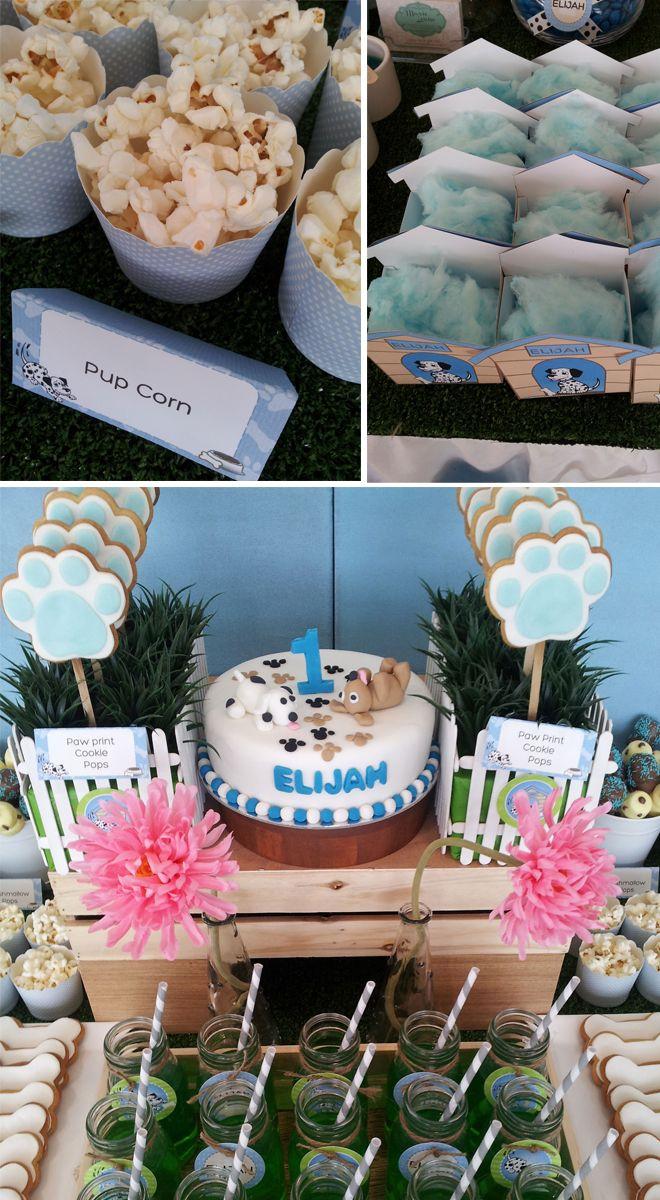 Un tema idóneo para un primer cumpleaños: cachorros! / An ideal theme for a 1st birthday party: puppies!