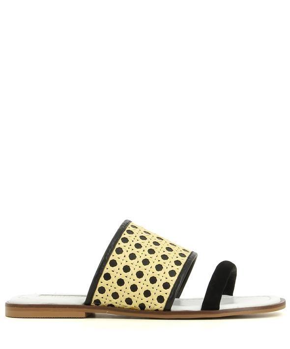 Buy 2 Baia Vista Totti Black Natural Zomp Shoez Zomp Black Heeled Mules Shoes