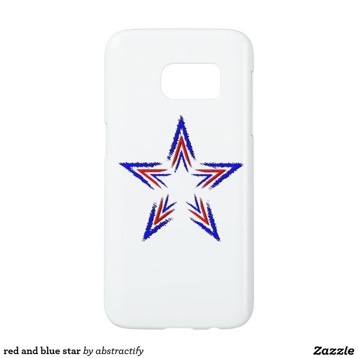 red and blue star samsung galaxy s7 case