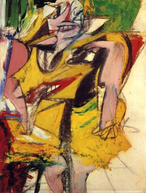 Willem de Kooning, Woman 1953 on ArtStack #willem-de-kooning #art