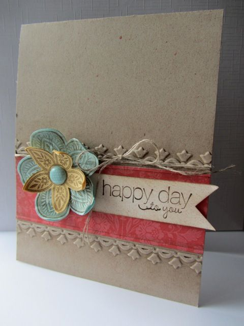 Triple Treat Flower, Friendly Phrases stamps. Stampin' Up! card by Elizabeth Price
