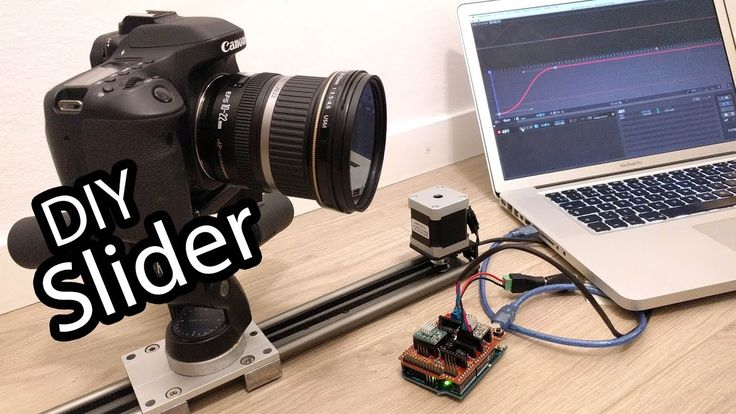 DIY Arduino camera slider for professional timelapse and stopmotion