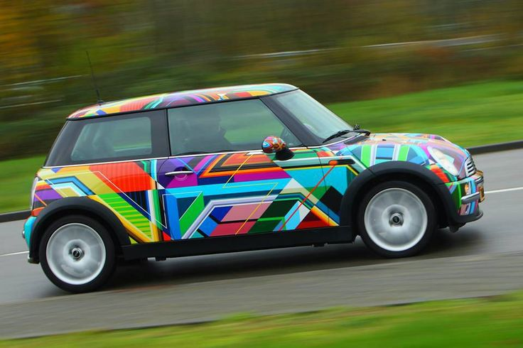 Kaleidoscope Mini Mini Art Car Mini Cooper Mini