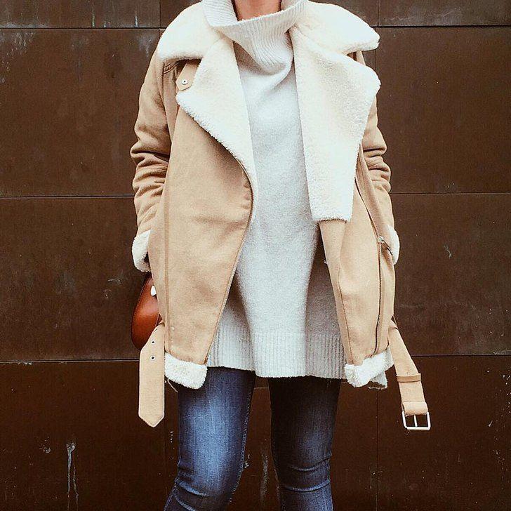 Hier ist der Beweis, dass Lammfell-Jacken die Must-Haves der Saison sind