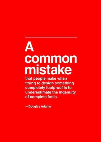 Common design mistakes from Douglas Adams
