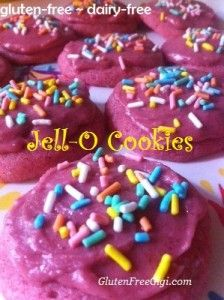 Gluten-Free Jell-O Cookies ~ a twist on the Jell-O recipe and yes, Jell-O made by Kraft Foods is gluten-free ;)