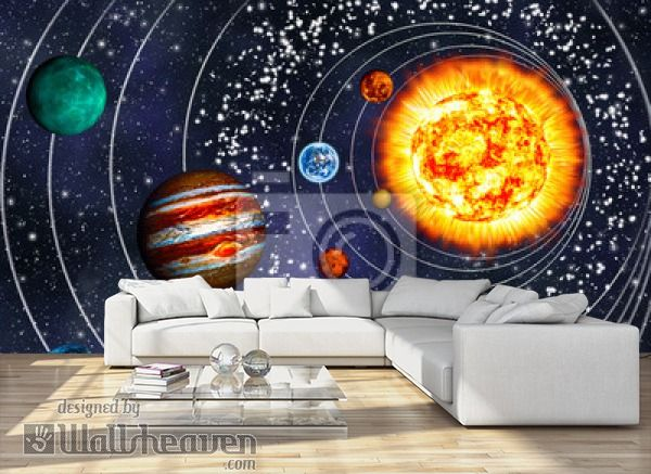 Wall Mural 3D Solar System: 9 Planets In Their Orbits   Wall Murals |  Library | Pinterest | 3d Solar System, Solar System And Wall Murals