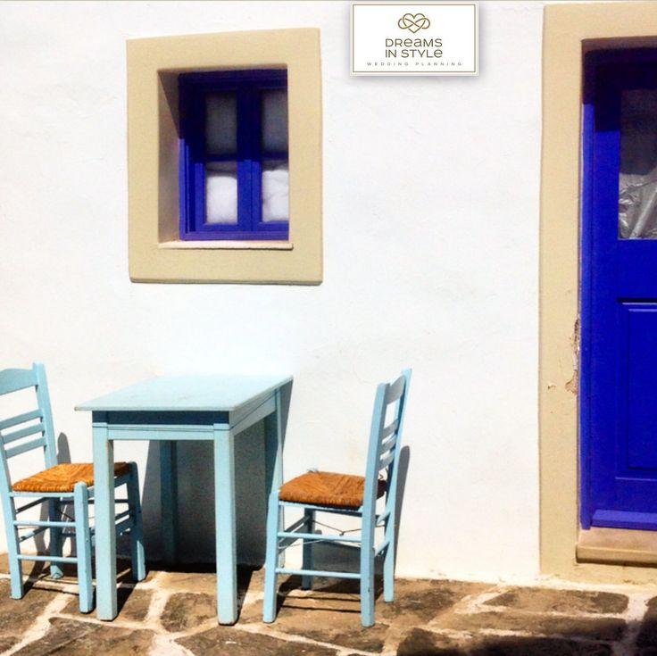 Traditional Greek coffee shop. #greece #naousa #paros #greekislands #coffeeshop #dreamsinstyle