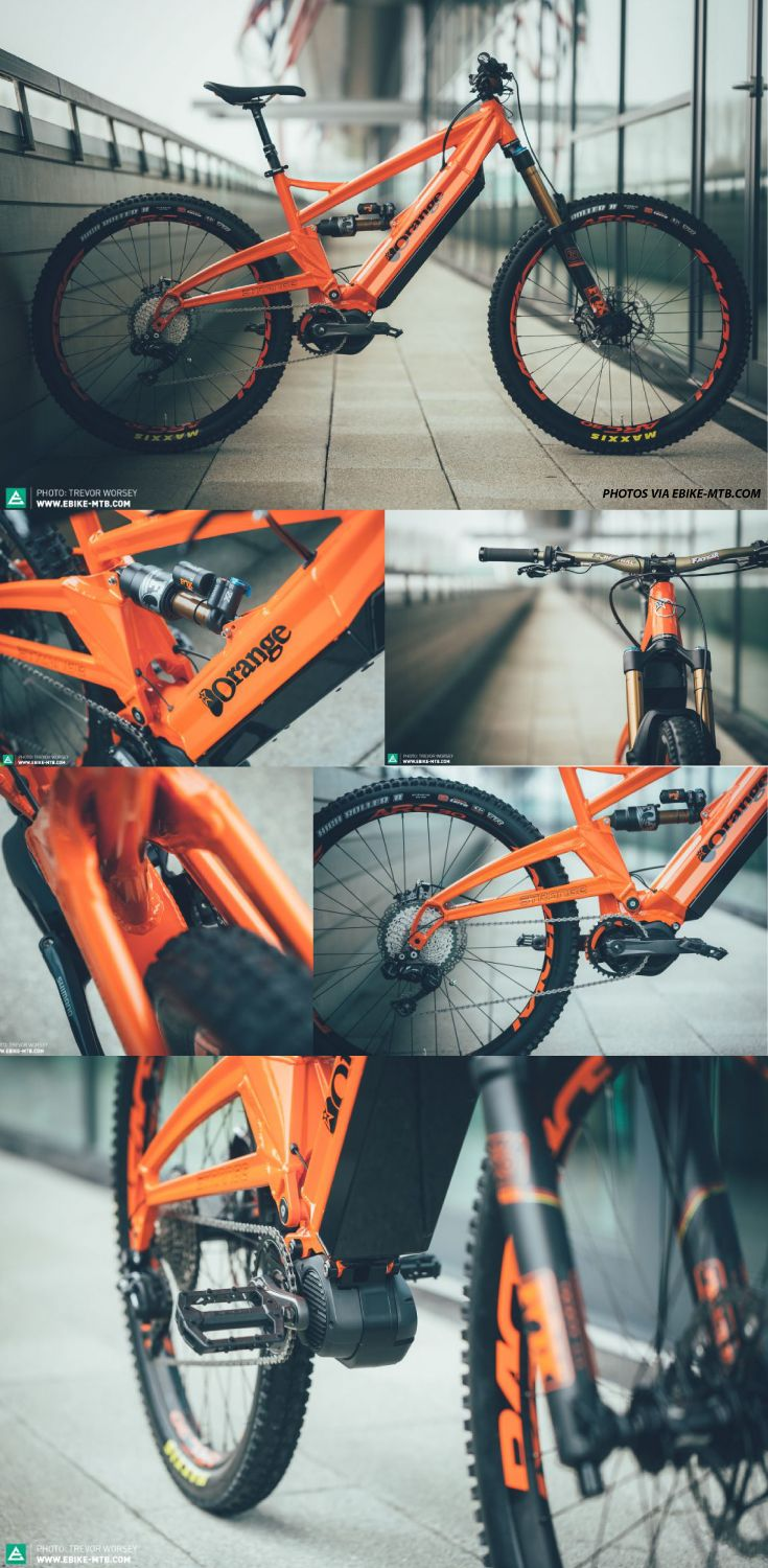 SPY SHOTS Courtesy of E-Mountain Bike, here are the latest spy shots of the Orange x Strange E-Bike. One of the top electric enduro/downhill MTB ever seen.