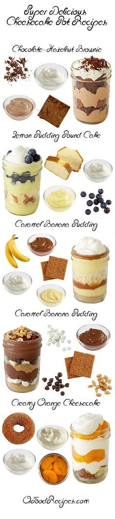 Super Delicious Cheesecake Pot Recipes - Layer your favorite dessert flavors in a cute package to make this no-bake treat.