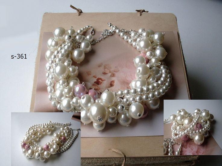 Luxusná svadobná bižutérie, perly, swarovski, úpravy na přání, svatební náušnice, náramky, náhrdelníky, vintage style, boho style, glamour style,... Vyberte barevnou kombinaci a my Vám uděláme exkluzívní kousek jenom pro Vás obrázek perlový náhrdelník podle předlohy COCO CHANEL