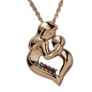 46 best personalized jewelry for mom images on pinterest buy mothers embrace birthstone necklace at limoges aloadofball Images