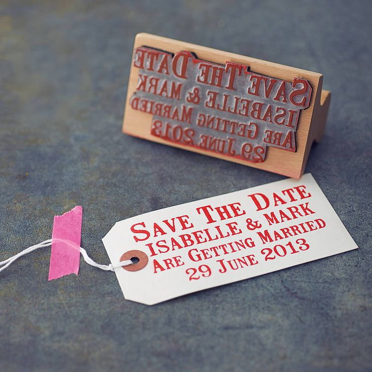 personalised 'save the date' rubber stamp by english stamp | notonthehighstreet.com