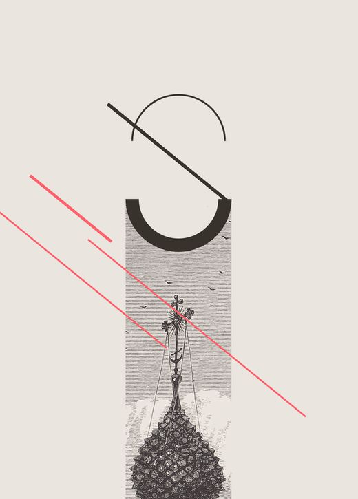 "thedsgnblog:  Andre Britz   |   http://britzpetermann.com ""Type mixed with graphic and old etching visuals."" Britzpetermann is a creative st..."