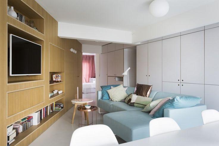 BINNENKIJKEN. Royaal wonen in een klein appartement - De Standaard: http://www.standaard.be/cnt/dmf20170414_02834150
