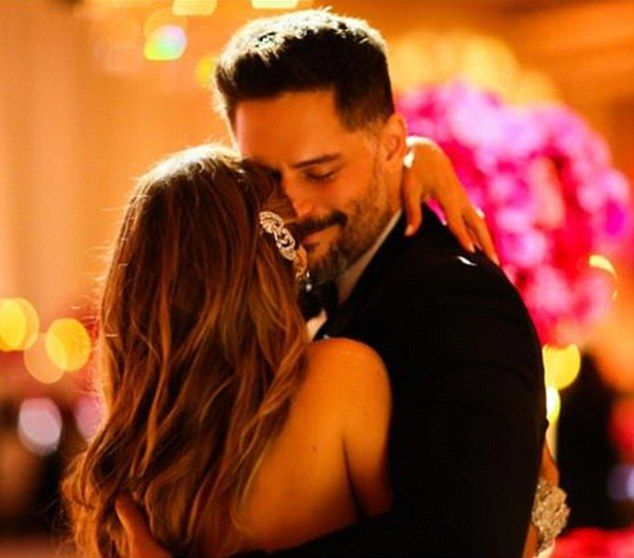 Happily ever after: in another shot she wished her husband a happy birthday, sharing a photo of them hugging sweetly at their wedding