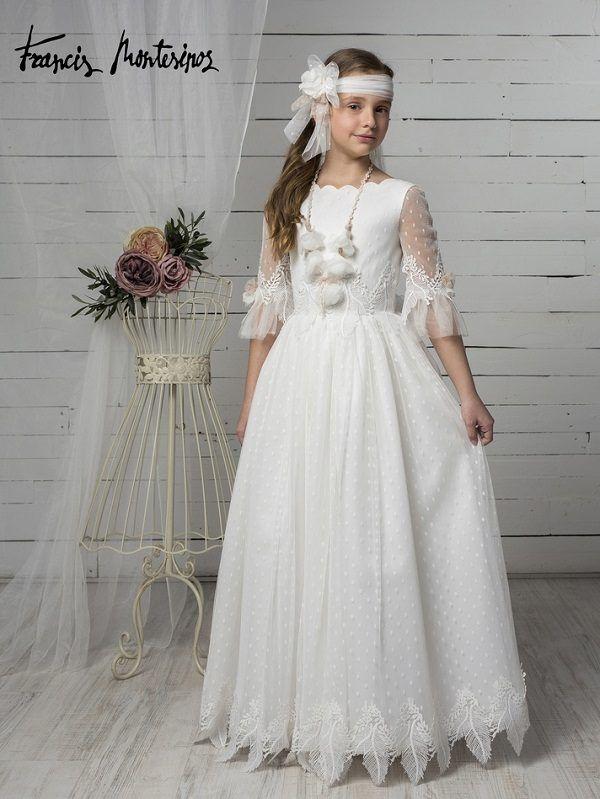 Vestidos De Comunión Marla 2020 Moda En Pasarela Vestidos Para Primera Comunion Vestidos De Comunión Vestido Floreado De Niña