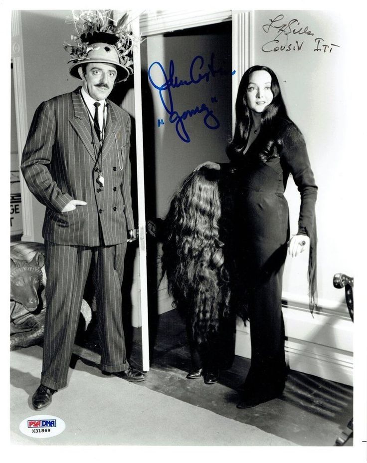John Astin/Felix Silla Signed Addams Family Auto 8x10 B/W Photo PSA/DNA #X31869