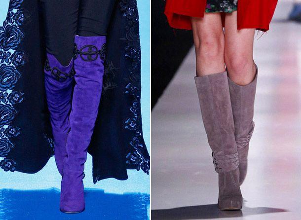 Модные замшевые сапоги 2017