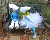 "Smurfy Inspired Tutu Costume Toddler up to 5T or Approximately 23"" Chest Measurement for Costume, Plays, Dress-Up, Photo Prop"