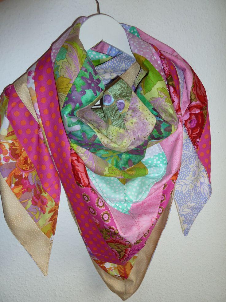 tørklæde i patchwork